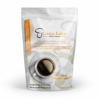 Chaga Earth Nature\'s Organics Mushroom Powered Tea