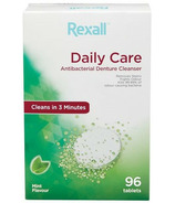Rexall Antibacterial Daily Care Denture Cleanser Mint Flavour Value Pack