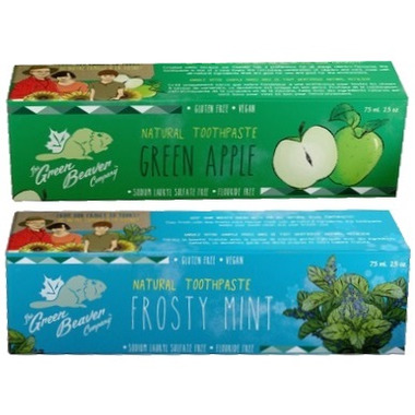 Green Beaver Toothpaste Frosty Mint and Green Apple Value Pack