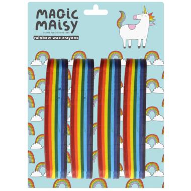 Magic Maisy Rainbow Wax Crayons