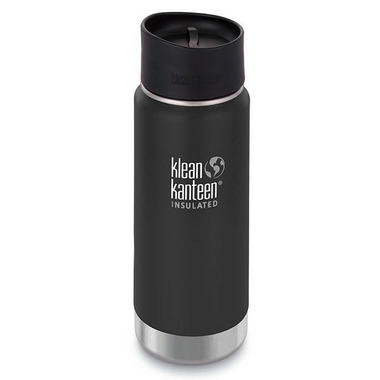 Klean Kanteen Insulated Wide Bottle with Cafe Cap 2.0 Shale Black