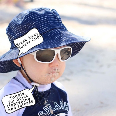 72ad96a909a Buy Twinklebelle Grow-With-Me Baby Bucket Sun Hat Navy Waves from ...