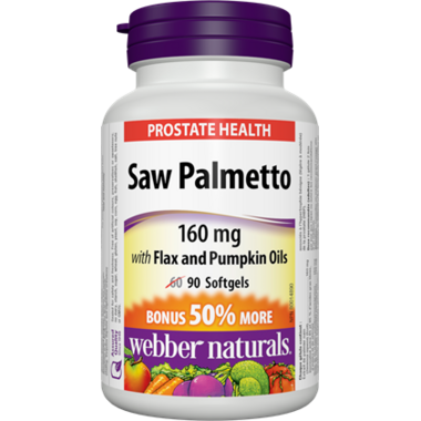 Webber Naturals Saw Palmetto, 160 mg
