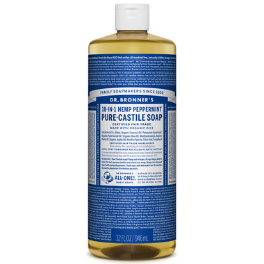 Dr. Bronner\'s Organic Pure Castile Liquid Soap Peppermint 32 Oz