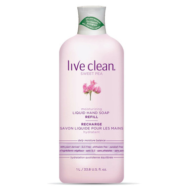 Live Clean Sweet Pea Moisturizing Liquid Hand Soap Refill