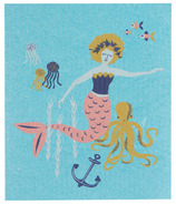 Now Designs Swedish Dish Cloth Mermaids