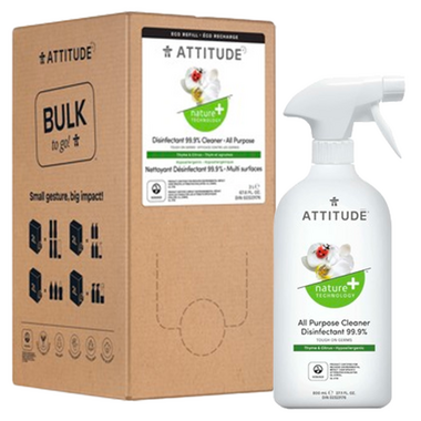ATTITUDE Nature+ All Purpose Bulk Disinfectant Spray Thyme & Citrus Bundle