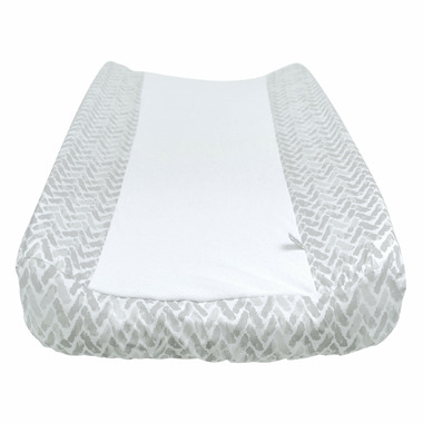 Perlimpinpin Changing Pad Cover Grey Chevron