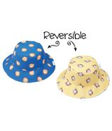 Flapjack Kids Reversible Baby Sun Hat Lion & Monkey
