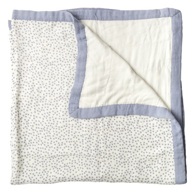Little Unicorn Bamboo Muslin Quilt Periwinkle Polka Dot