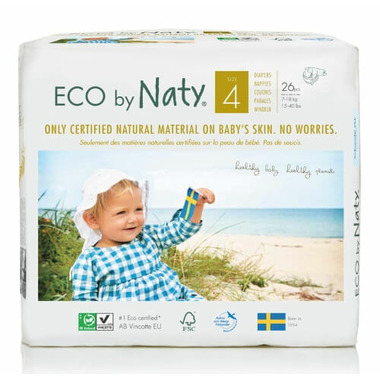 Eco by Naty Size 4 Diapers