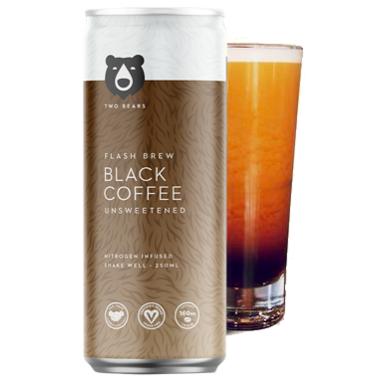 Two Bears Flash Brew Coffee Black