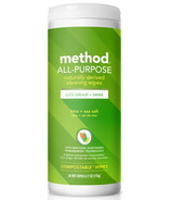 Method All-Purpose Cleaning Wipes Lime+ Sea Salt