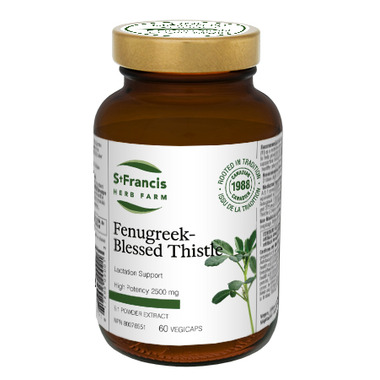 St. Francis Herb Farm Fenugreek Blessed Thistle VegiCaps