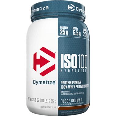 Dymatize Nutrition ISO100 Hydrolyzed Whey Protein Fudge Brownie