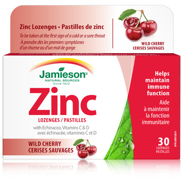Jamieson Zinc Lozenges with Echinacea, Vitamins C & D