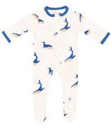 Kyte BABY Zippered Footie in Whale