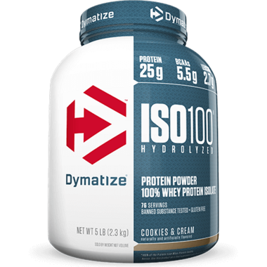 Dymatize Nutrition ISO100 Hydrolyzed Whey Protein Cookies & Cream 5 lbs