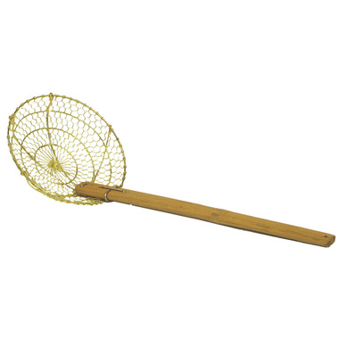 Brass Wire Skimmer with Wood Handle