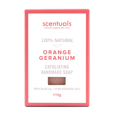 Scentuals 100% Handmade Natural Soap Orange Geranium
