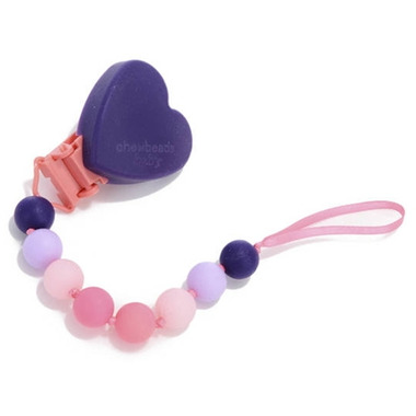Chewbeads Baby Heart Pacifier Clip