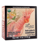 Light Mountain Semi-Permanent Natural Hair Color Light Red