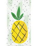 Elise Summer Fruit 3 Ply Guest Towel Pineapple
