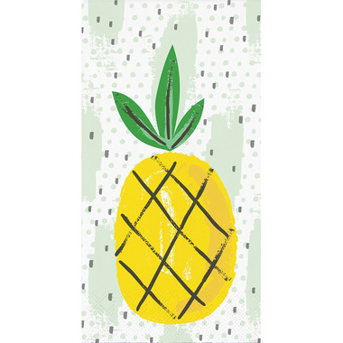 Elise Summer Fruit 3 Ply Guest Towel Pineapple