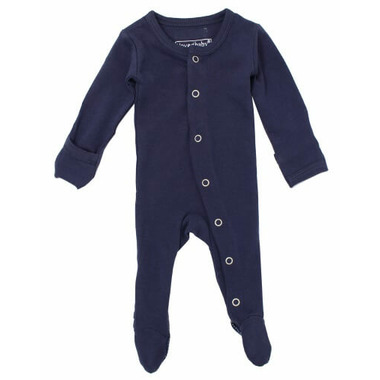 L\'oved Baby Organic Footed Overall Navy