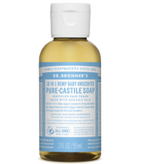 Dr. Bronner's Organic Pure Castile Liquid Soap Baby Unscented 2 Oz