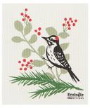 Now Designs Ecologie Swedish Sponge Cloth Forest Birds Woodpecker