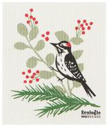 Now Designs Ecologie Tissu éponge suédois Oiseaux de la forêt Pivert
