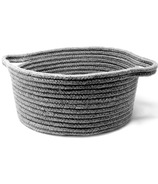 Natural Living Cotton Basket Grey