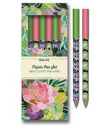 Studio Oh! Paper Pen Set Succulent Paradise
