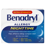 Benadryl Nighttime Allergy Caplets