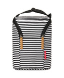 Skip Hop Grab & Go Double Bottle Bag Black & White Stripe