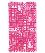 Upper Canada Hot & Cold Pack Pink Word Pattern