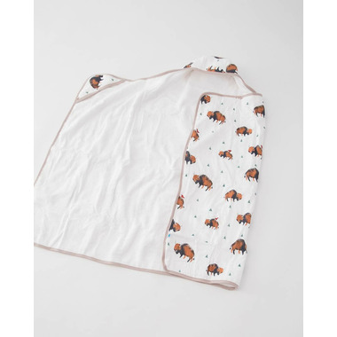 Little Unicorn Cotton Hooded Towel Big Kid Bison