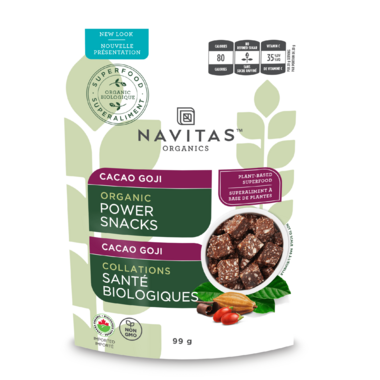 Navitas Naturals Organic Power Snacks Cacao Goji