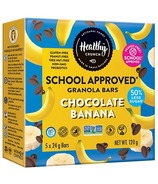 Healthy Crunch School Approved Granola Bars Chocolate Banana