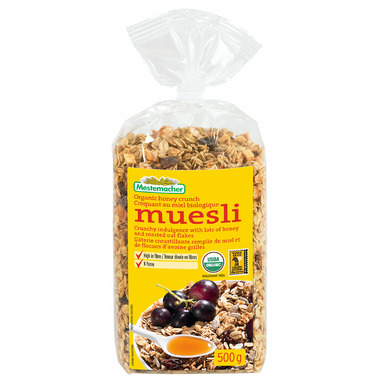 Mestemacher Organic Honey Crunch Muesli