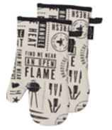 Harman We All Eat BBQ Oven Mitt Black