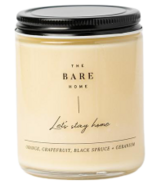 The Bare Home Let's Stay Home Candle Citrus, Black Spruce, Geranium