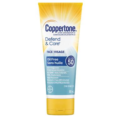 Coppertone Defend & Care Face Sunscreen Lotion SPF 50+