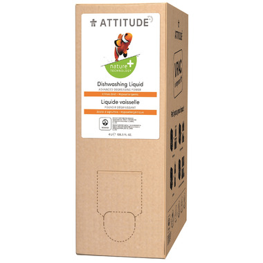 ATTITUDE Nature+ Bulk To Go Dishwashing Liquid Citrus Zest