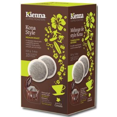 Kienna Coffee Roasters Kona Style Coffee Pods
