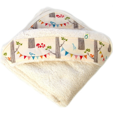 Oko Creations Organic Hooded Baby Bath Towel Enchanted Forest