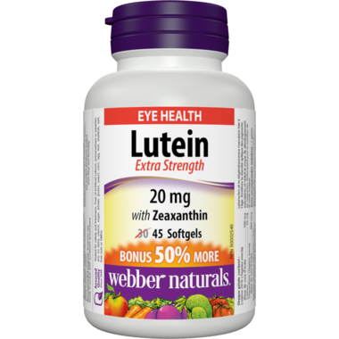 Webber Naturals with Zeaxanthin Extra Strength Bonus Size