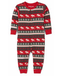 Hatley Fair Isle Moose Baby Union Suit