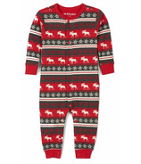 Hatley Little Blue House Baby Union Suit Fair Isle Moose